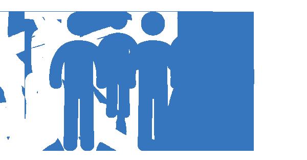 Clipart: Groupe de 5 personnes.
