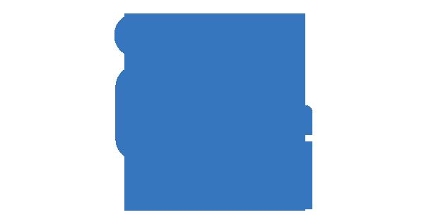 Clipart: Une personne assise devant un écran posé sur un bureau.