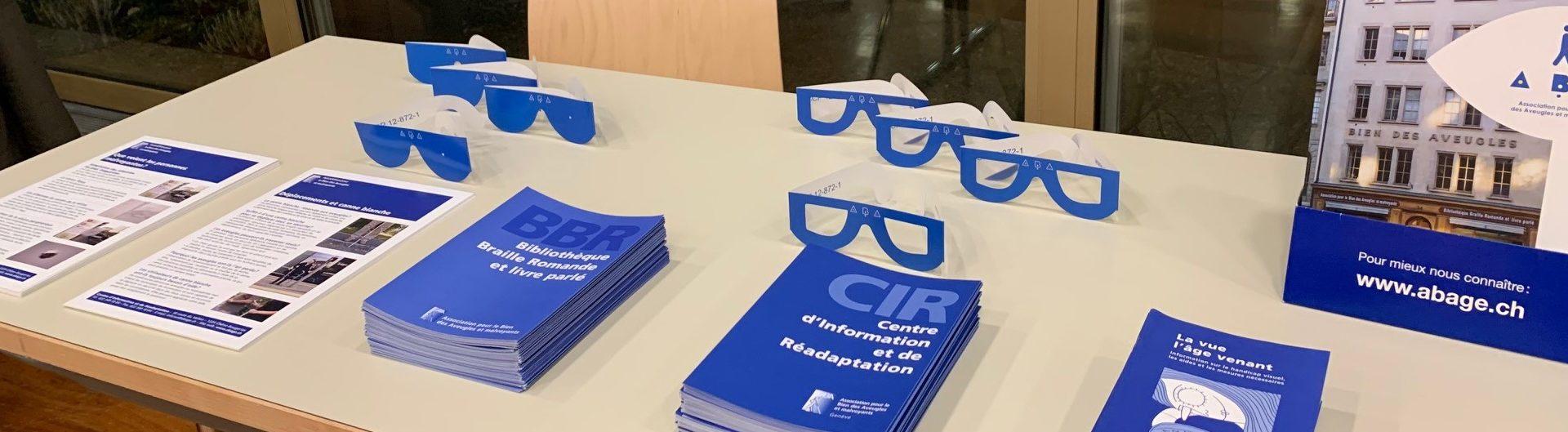 Photo: Stand ABA présentant de la documentation.