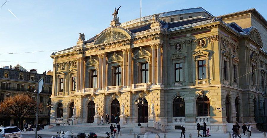 Photo: Facade de l'entrée principale du Grand Théâtre.