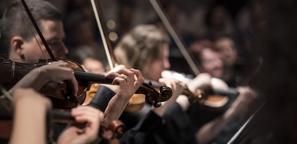 Photo: musiciens jouant du violon.