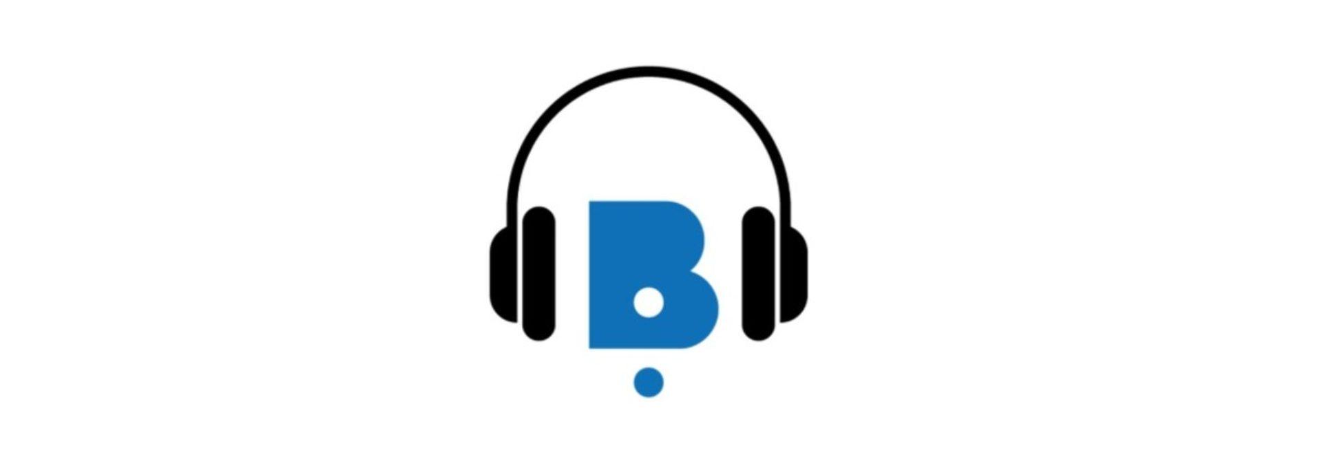Logo de l'application est constitué de la lettre B entourée d'un casque audio.