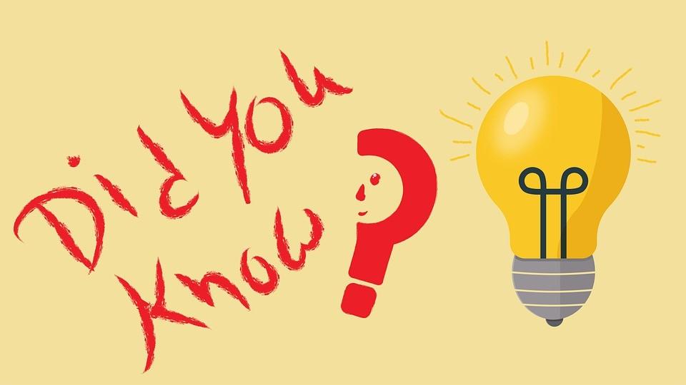 Photo: la phrase Di you know? écrite en rouge accompagné d'une ampoule.