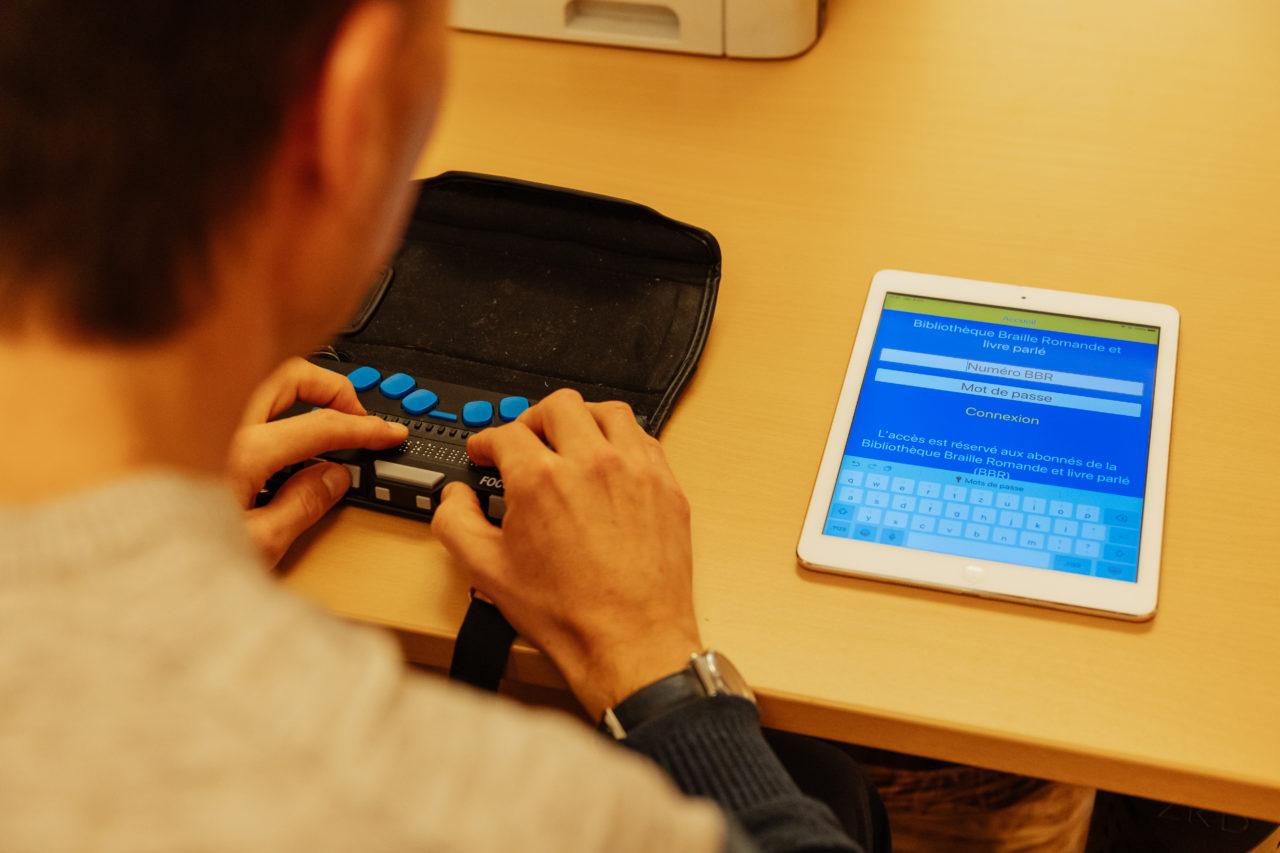 Photo: Écoute d'un livre avec l'application BBR Player