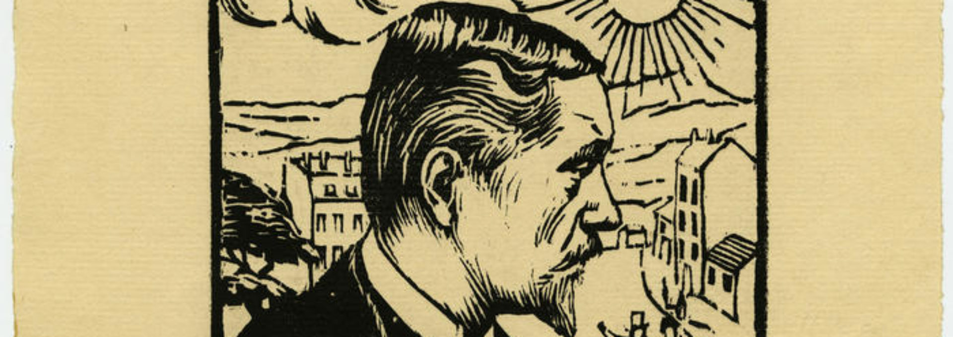 Photo: autoportrait gravé de Félix Vallotton.