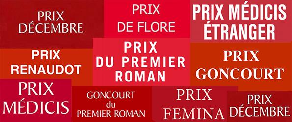 photo: kaléidoscope d'affiches de différents prix littéraires.