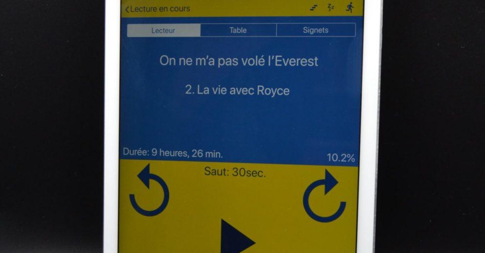 Photo: Écouter les livres de la BBR directement sur son terminal mobile.