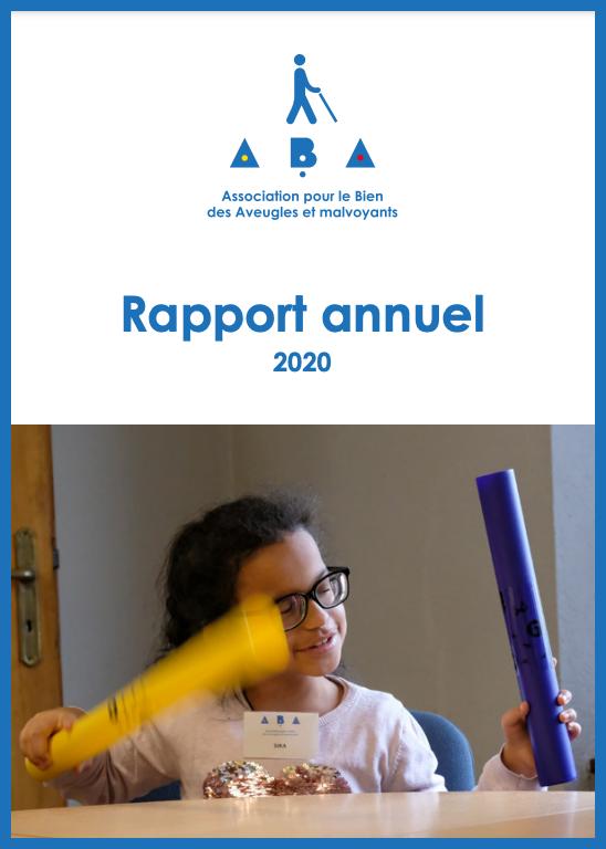 Illustration: Page de couverture du rapport annuel 2020 de l'ABA.